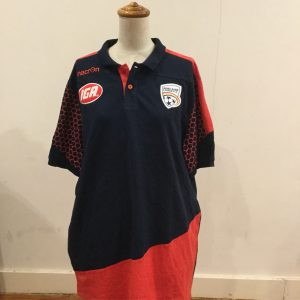 Adelaide United Polo hexagon sleeve 2XL
