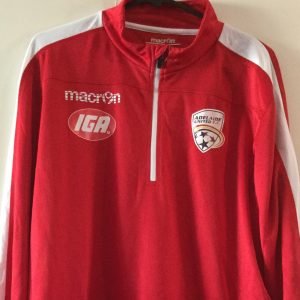 Adelaide United Red Long Sleeve 1/4 Zip