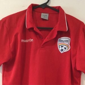 Adelaide United Nylon Red Polo