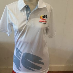 Adelaide United Red Cotton Polo with white trim