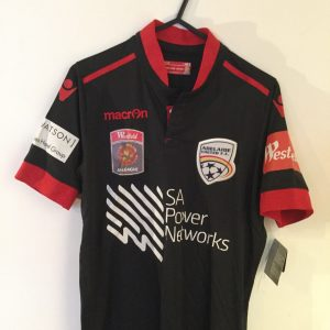 Adelaide United black silky Replica Away top