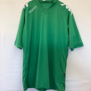 Kappa green silky goaly top