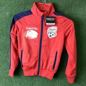 Adelaide United kids jacket with blue zipper