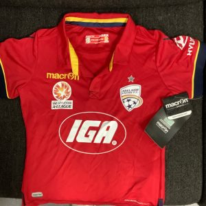 Adelaide United red silky top – jnr