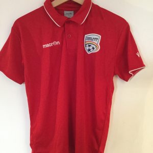 Adelaide United – Red Polo shirt with white piping